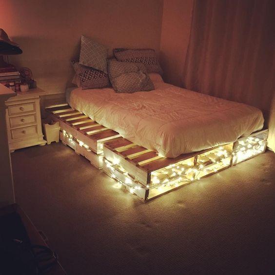 palle seng Byg en palleseng   sådan får du en flot DIY palleseng palle seng