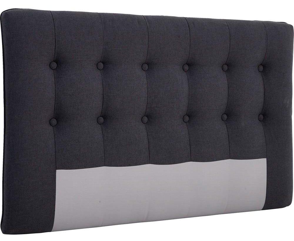 Polstret sengegavl med knapper