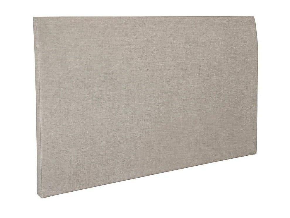 Sengegavl i lyst polstret stof - 180cm