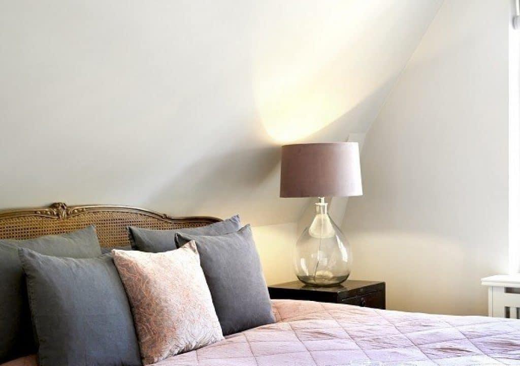 Lampeskærm i velour (rosa)