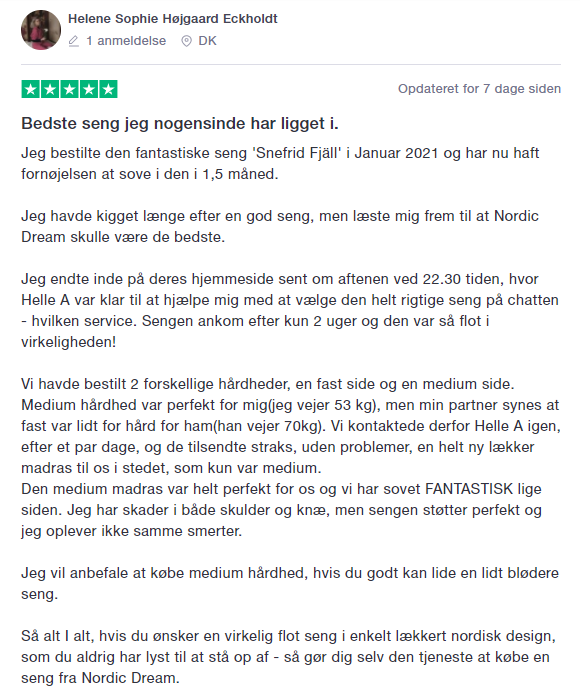 Nordic Dream Trustpilot ratings